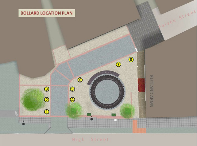new bollard location plan