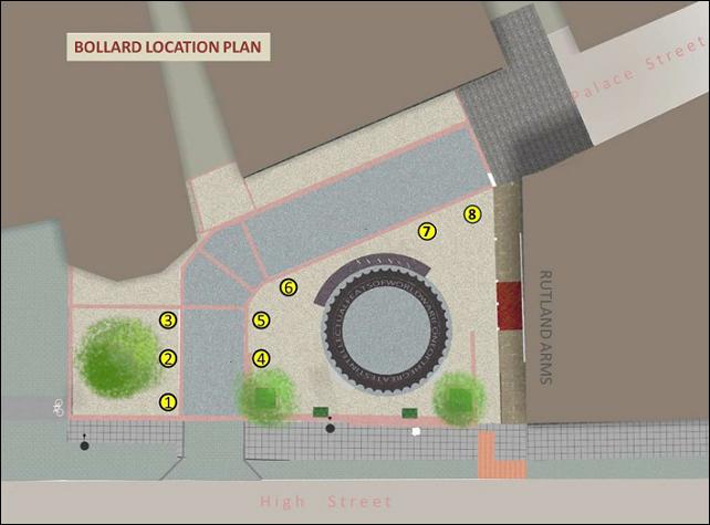 new bollard location plan